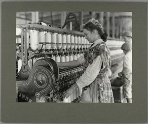This young spinner has been at work two years, November 1908