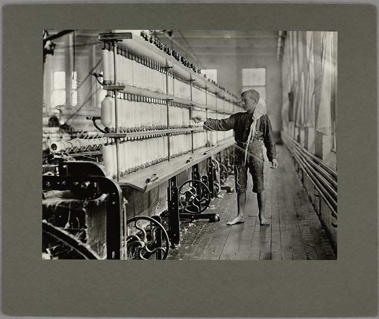 "A ""back-roping boy"" ... in a New England mill, May 1909"