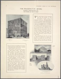 The Washington Irving, Southeast corner Broadway and One hundred and twelfth Street ; Columbia Library ; Grant's Tomb, Barnard College ; Cathedral of St. John the Divine.