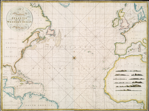 A new chart of the Atlantic or Western Ocean / improved by W. Heather ; engraved by J. Stephenson.