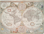 A new and accurat map of the world : drawne according to ye truest descriptions, latest discoueries & best obseruations yt haue beene made by English or strangers, 1651.