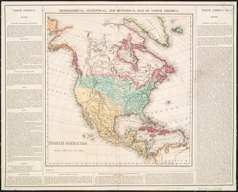 Geographical, statistical, and historical map of North America / engraved by J. Yeager ; drawn by J. Finlayson.