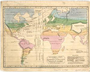 Isothermal chart, or, View of climates & productions / drawn from the accounts of Humboldt & others, by W.C. Woodbridge.