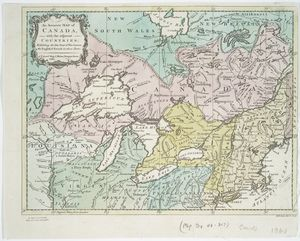 An accurate map of Canada, with the adjacent countries : exhibiting the late seat of war between the English & French in those parts / R.W. Seale, del. et sculp.
