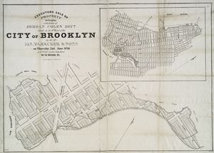 Executors sale of property belonging to the estate of Jordan Coles, decd. : situate in the 6th ward of the city of Brooklyn, by Jas. Bleecker & Sons on Thursday, 2nd June 1836, at 12 o'clock at their sales room, No. 13 Broad St.