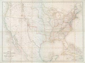 Map of the United States of North America : with parts of the adjacent countries / by David H. Burr (late topographer to the Post Office), geographer to the House of Representatives of the U.S.