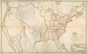 Map of the United States with the contiguous British & Spanish possessions / compiled from the latest & best authorities by John Melish ; engraved by J. Vallance & H.S. Tanner.