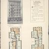 A model tenement house. 224-226 Avenue B; Plan of first floor; Plan of upper floors.