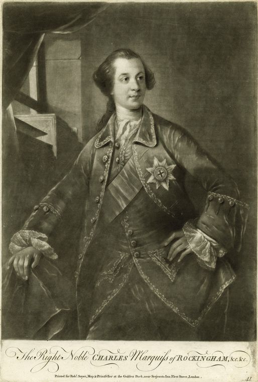 Fascinating Historical Picture of Charles Watson-Wentworth Rockingham in 1760