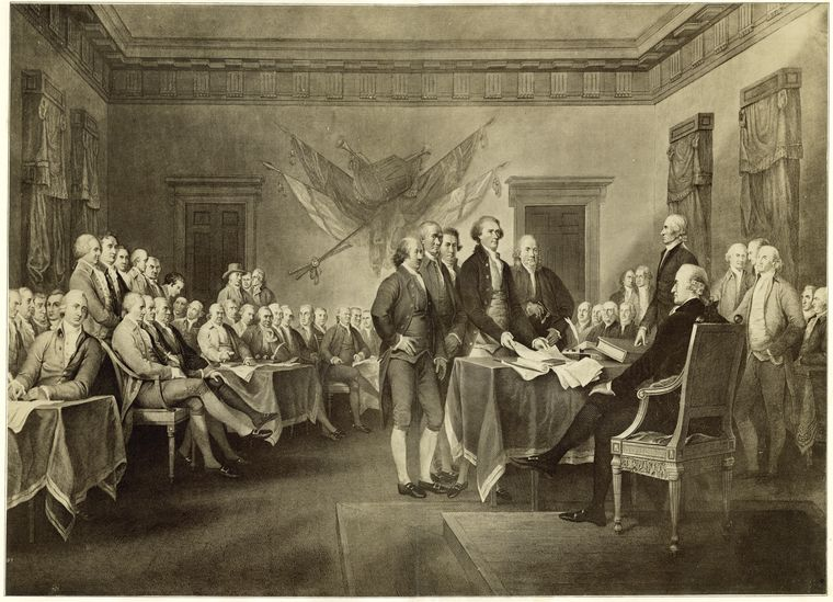 Fascinating Historical Picture of United States. Continental Congress