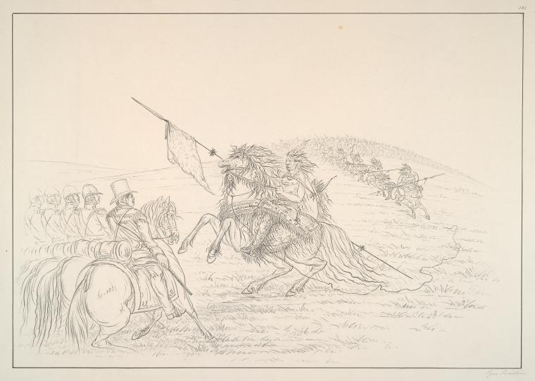 Camanchee. Meeting of Dragoons and Camanchees.