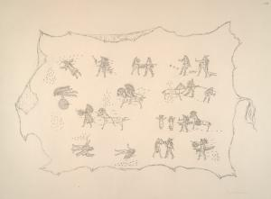 Mandan. Facsimile of a Mandan robe exhibited in the Author's American Indian Collection.