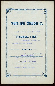 [DINNER] [held by] PACIFIC MAIL STEAMSHIP COMPANY [at] SS CITY OF PARA (SS;)