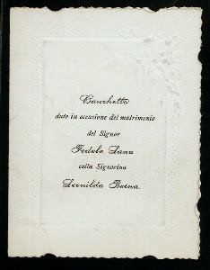 BANCHETTO [held by] ? [at] HOTEL COLOMBO (HOTEL;)