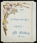 """NEW YEARS DAY DINNER [held by] THE CHILBERG [at] """"TACOMA, [WA?}"""" ([REST?];)"""