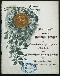 """BANQUET TENDERED TO NATIONAL LEAGUE OF COMMISSION MERCHANTS OF THE U.S. [held by] NEW YORK BRANCH LEAGUE [at] """"METROPOLITAN HOTEL, NEW YORK, NY"""" (HOT;)"""