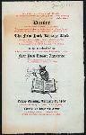 "DINNER TO THE MEMBERSHIP OF THE NEW YORK LIBRARY ASSOCIATION [held by] THE NEW YORK LIBRARY CLUB [at] ""CLARK'S, NEW YORK, NY"" (REST;)"