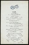 DINNER MENU [held by] WAU