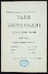 MENU [held by] PARK RESTA