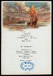 LUNCH [held by] NORDDEUTSCHER LLOYD BREMEN [at] EN ROUTE ABOARD DAMPFER H.H.MEIER (SS;)
