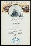 """MITTAGESSEN[DINNER] [held by] NORDDEUTSCHER LLOYD - BREMEN [at] """"EN ROUTE """"""""H.H.MEIER"""""""""""" (SS)"""