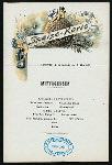 MITTAGESSEN [held by] NORDDEUTSCHER LLOYD BREMEN [at] DAMPFER; H.H. MEIER (SS;)