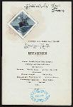 MIDDAY DINNER [held by] NORDDEUTSCHER LLOYD BREMEN [at] EN ROUTE ABOARD DAMPFER H.H. MEIER (SS;)