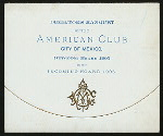 """DIRECTORS BANQUET [held by] AMERICAN CLUB [at] """"CITY OF MEXICO, MEXICO"""" (FOR;)"""