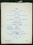 """NEW YEAR'S DAY DINNER [held by] THE NEW ST. CHARLES [at] """"NEW ORLEANS, LA"""" (HOTEL;)"""