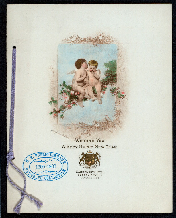 "DINNER [held by] GARDEN CITY HOTEL [at] ""GARDEN CITY,L.I.NY"" (HOTEL;)"