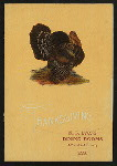"""THANKSGIVING DAY MENU [held by] M.F.LYONS DINING ROOMS [at] """"261 BOWERY, NY"""" (REST;)"""