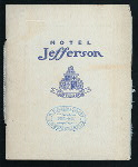 """NEW YEAR'S DINNER [held by] HOTEL JEFFERSON [at] """"SAN FRANCISCO, CA"""" (HOTEL;)"""