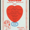 "VALENTINE BREAKFAST [held by] WOMAN'S PRESS CLUB [at] ""HOTEL ASTOR, NEW YORK"" (HOTEL;)"