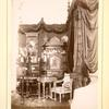 [Elaborate piece of furniture, a mirror, and a tall cabinet.]