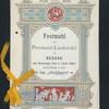"""DINNER [held by] PROVINZIAL-LIEDERTAFEL [at] """"HOFJAGER, DESSAU,(GERMANY)"""""""