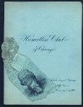 "ANNUAL BANQET [held by] HAMILTON CLUB [at] ""AUDITORIUM, HAMILTON CLUB, CHICAGO, IL"" (OTHER (CLUB);)"