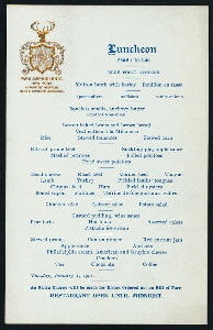 "LUNCHEON [held by] PARK AVENUE HOTEL [at] ""NEW YORK, NY"" (HOTEL;)"