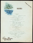 """NEW YEARS DAY DINNER [held by] LOGAN HOUSE [at] """"ALTOONA, PA"""" (HOTEL;)"""