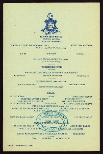 "LUNCH [held by] TAMPA BAY HOTEL [at] ""TAMPA,FL"" (HOTEL;)"