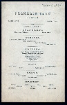 """SUPPER [held by] FRANKLIN CLUB [at] """"PARKER HOUSE, BOSTON,MA"""" (HOT.)"""