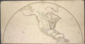 [Map of the world on a globular projection.]