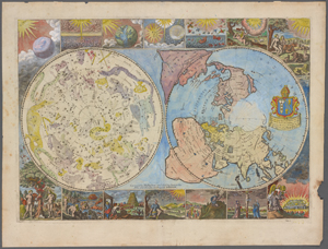 [Map of the heavens and the earth] / corrected by Philip Lea ...