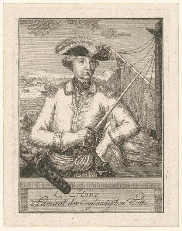 Fascinating Historical Picture of Richard Howe Howe in 1780