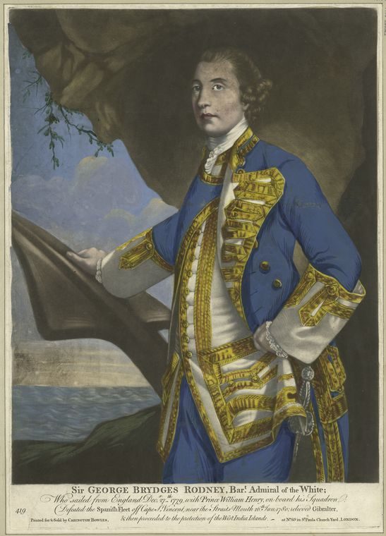 Fascinating Historical Picture of George Brydges Rodney Rodney in 1780