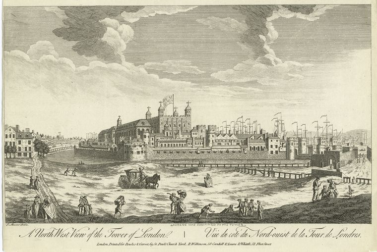 Fascinating Historical Picture of Tower of London in 1770
