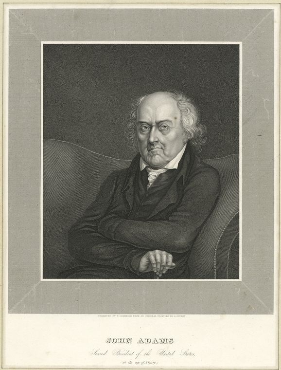 This is What John Adams Looked Like  in 1825