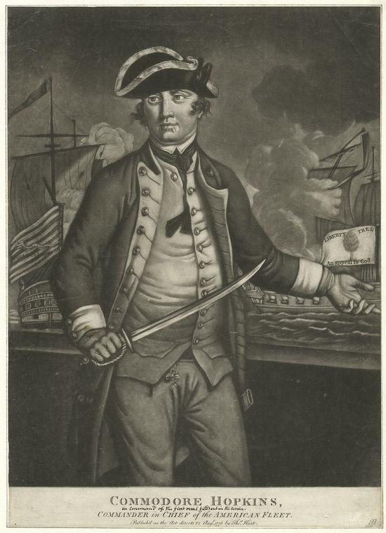 Fascinating Historical Picture of Esek Hopkins in 1776