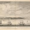 A view of the city of Quebec, the capital of Canada, taken partly from Point des Peres, and partly on board the Vanguard Man of War, by Captain Hervey Smyth.