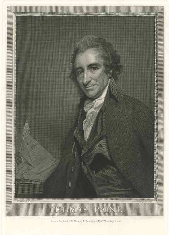 This is What George Romney and Thomas Paine Looked Like  in 1795