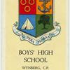 Boys' High School, Wynberg, C.P.